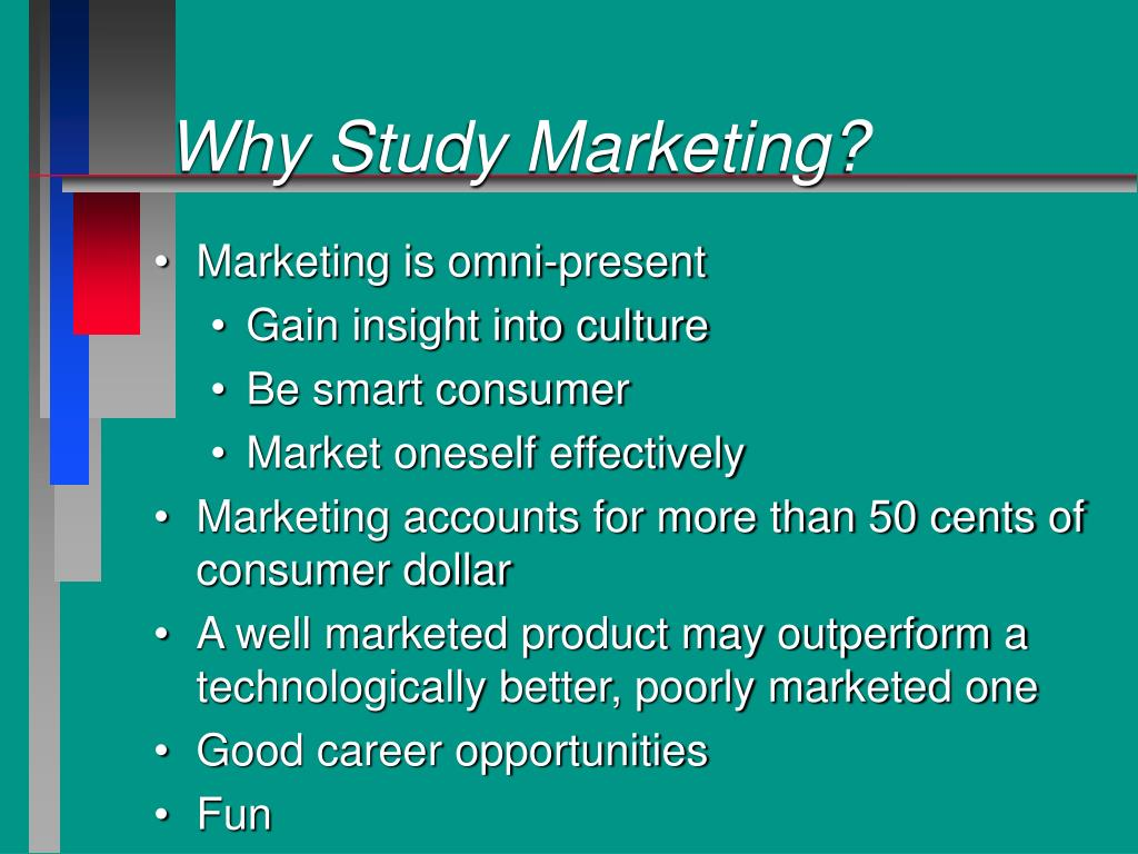 Why Study Marketing?