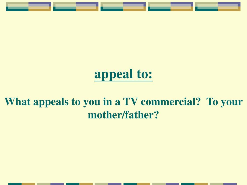 appeal to: