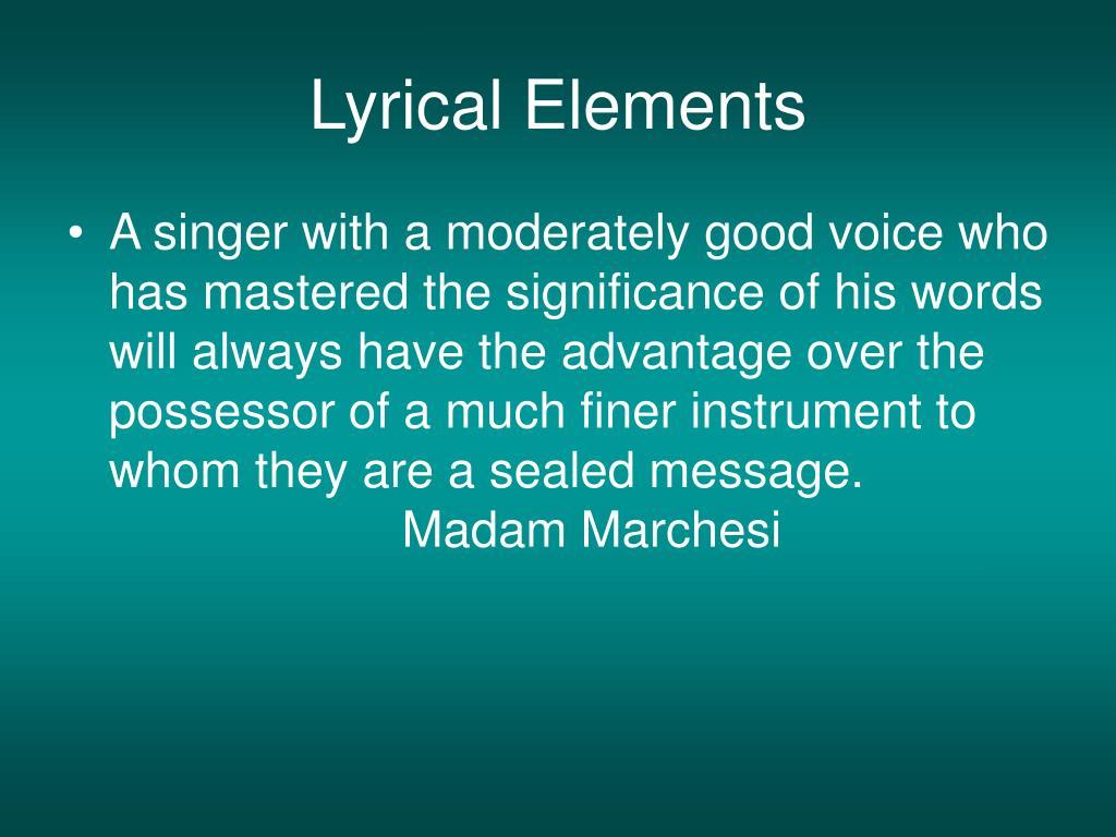 Lyrical Elements