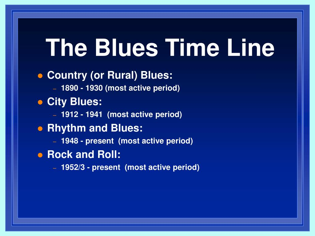 The Blues Time Line
