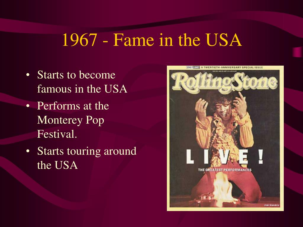 1967 - Fame in the USA