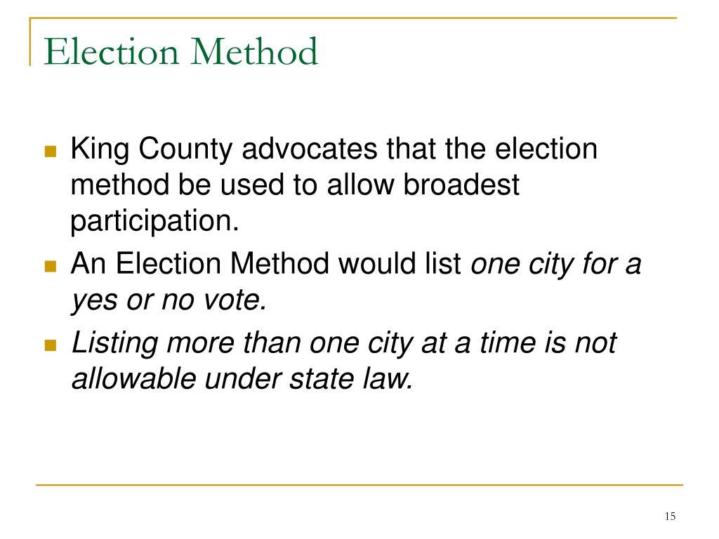 Election Method