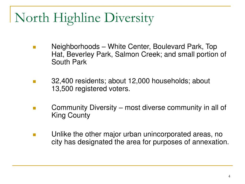 North Highline Diversity