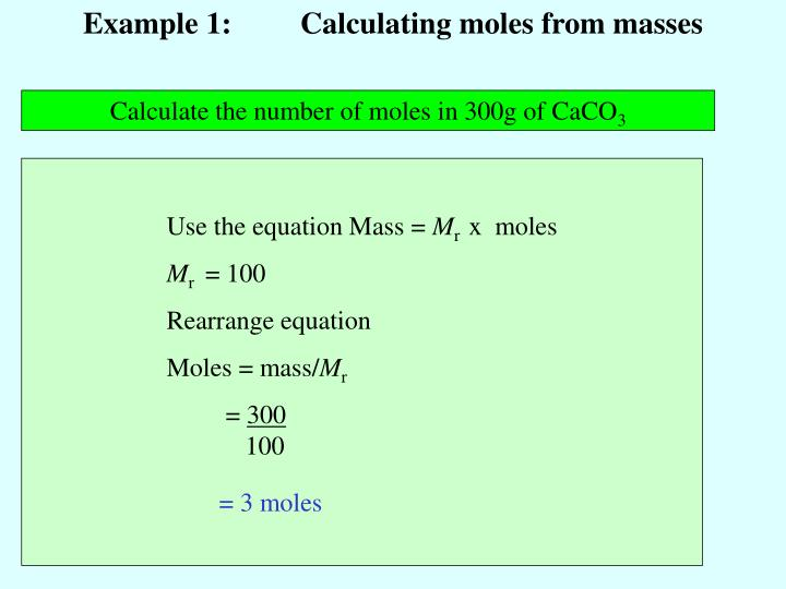 how to find number of moles in a sample