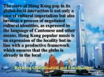 between globalisation and localisation