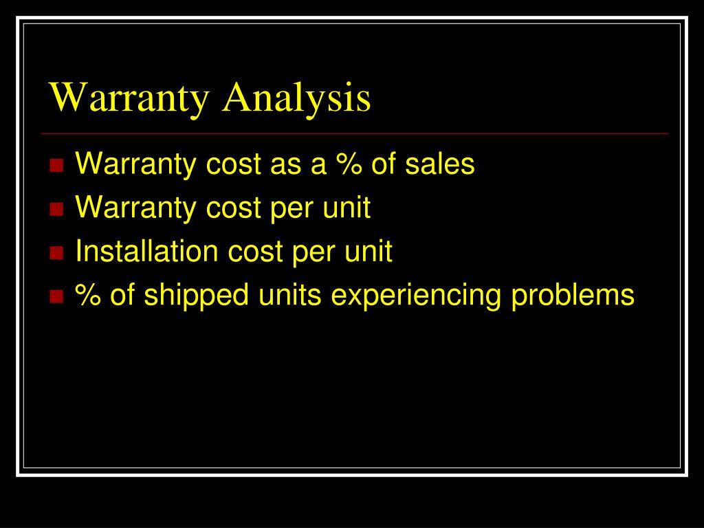 Warranty Analysis