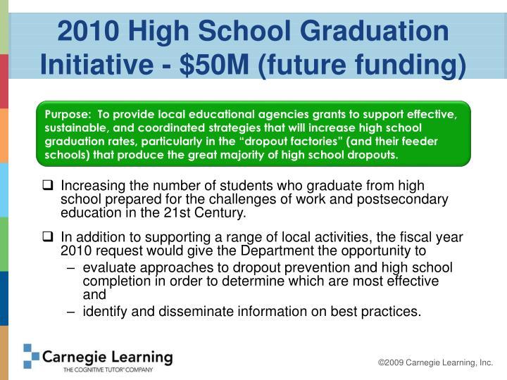 2010 High School Graduation Initiative - $50M (future funding)