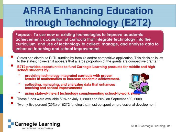 ARRA Enhancing Education through Technology (E2T2)