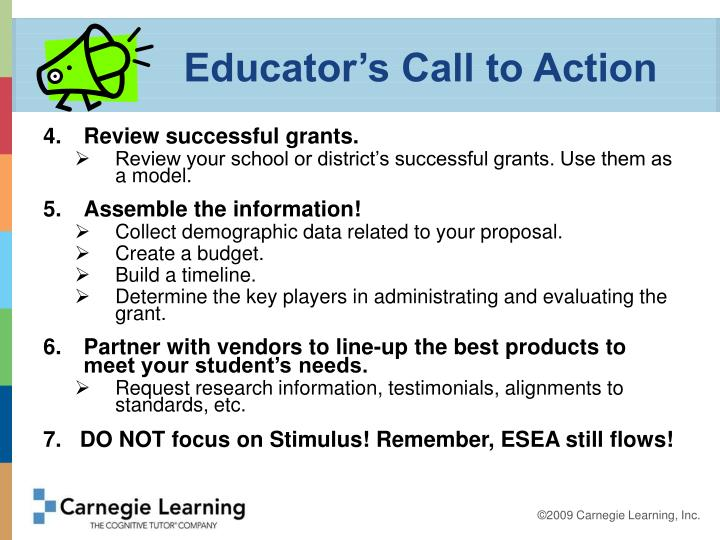 Educator's Call to Action