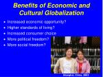 benefits of economic and cultural globalization