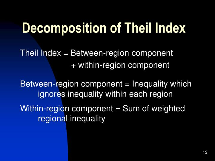 Decomposition of Theil Index