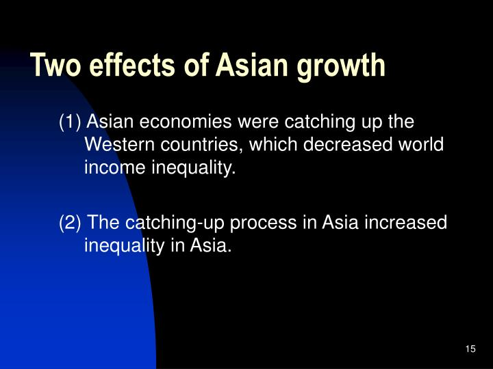 Two effects of Asian growth