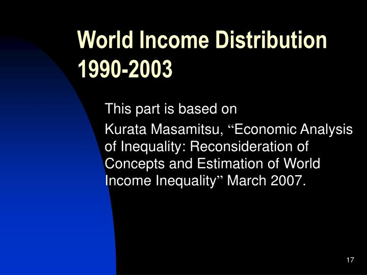 World Income Distribution