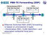 pbb te forwarding esp