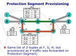 protection segment provisioning