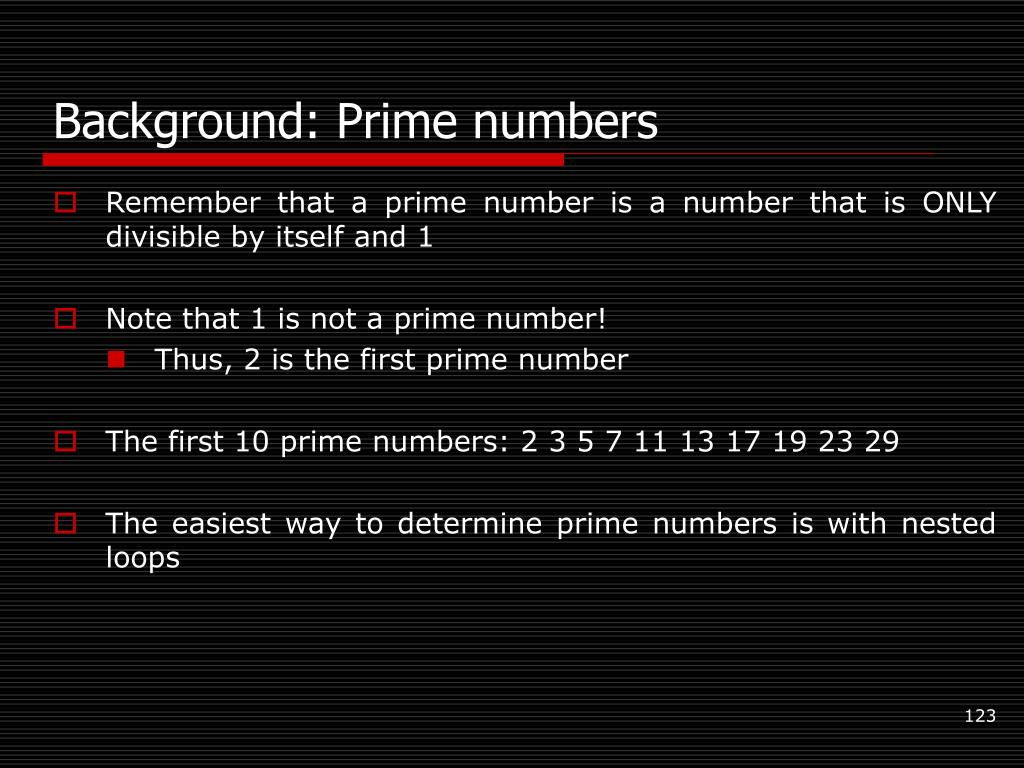 Background: Prime numbers