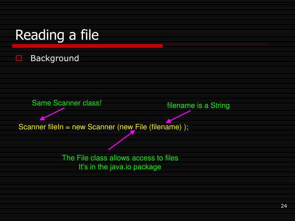 Same Scanner class!