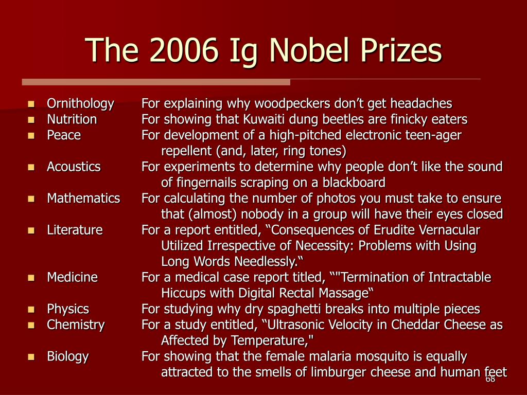 The 2006 Ig Nobel Prizes