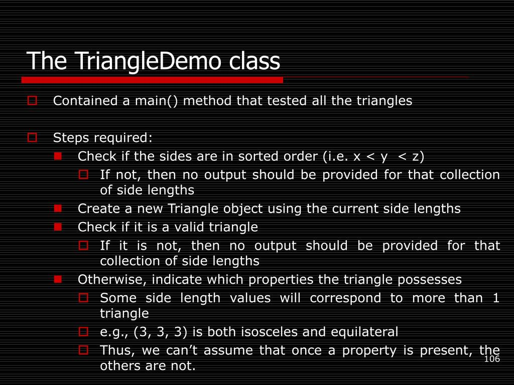 The TriangleDemo class
