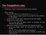 the triangledemo class
