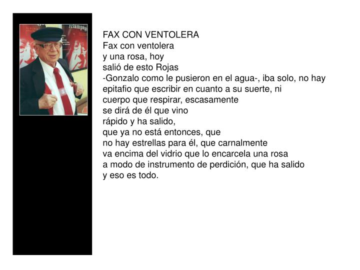 FAX CON VENTOLERA