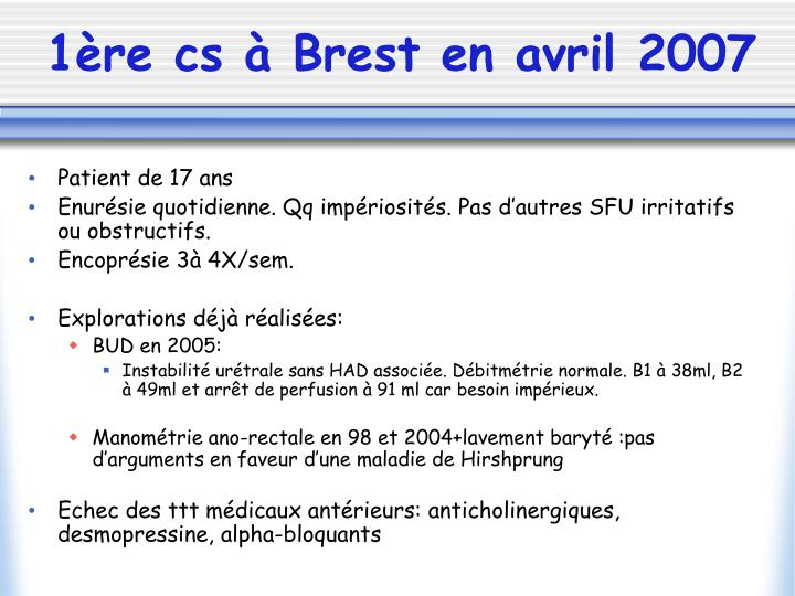 1ère cs à Brest en avril 2007