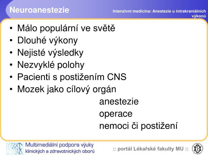 Neuroanestezie