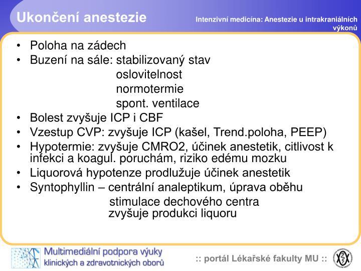 Ukončení anestezie