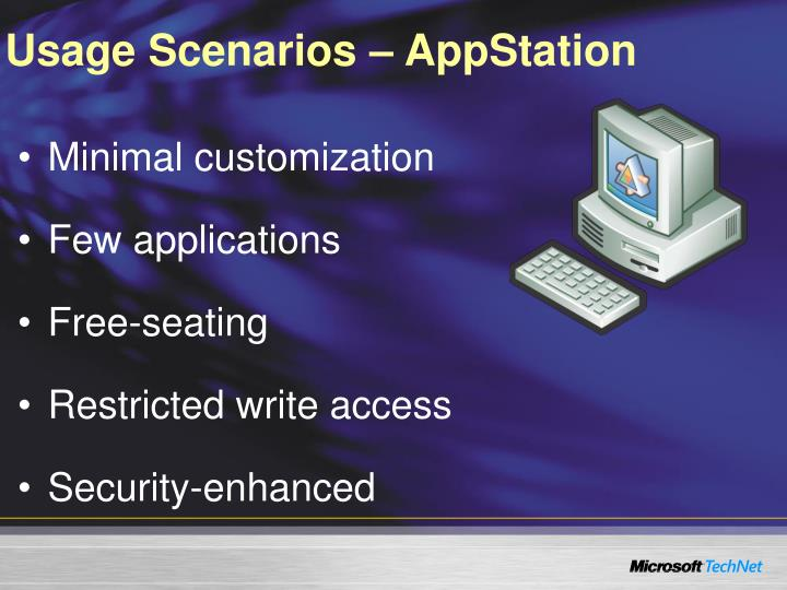 Usage Scenarios – AppStation
