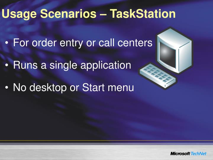 Usage Scenarios – TaskStation