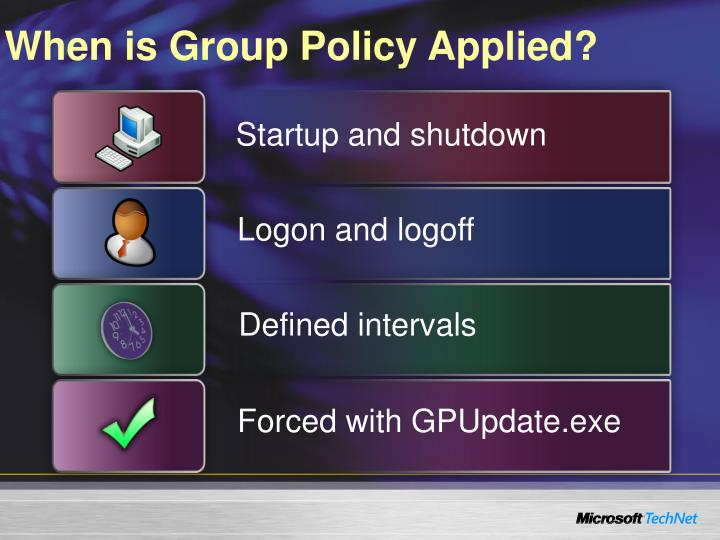 When is Group Policy Applied?