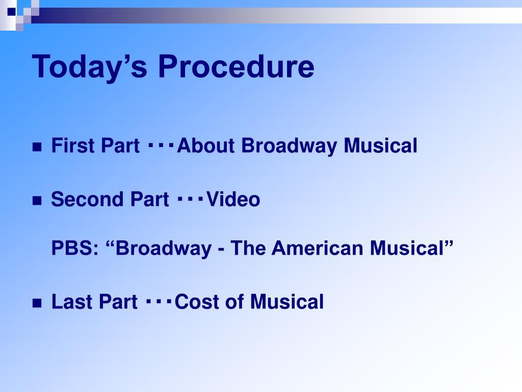 Today's Procedure