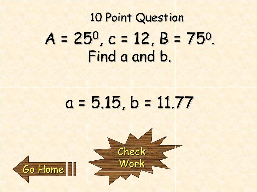 10 Point Question