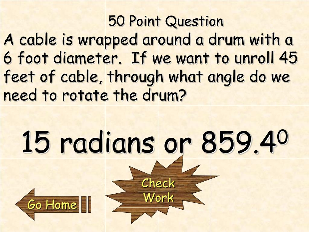 50 Point Question
