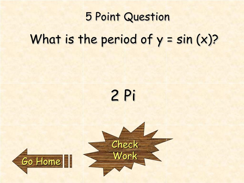 5 Point Question