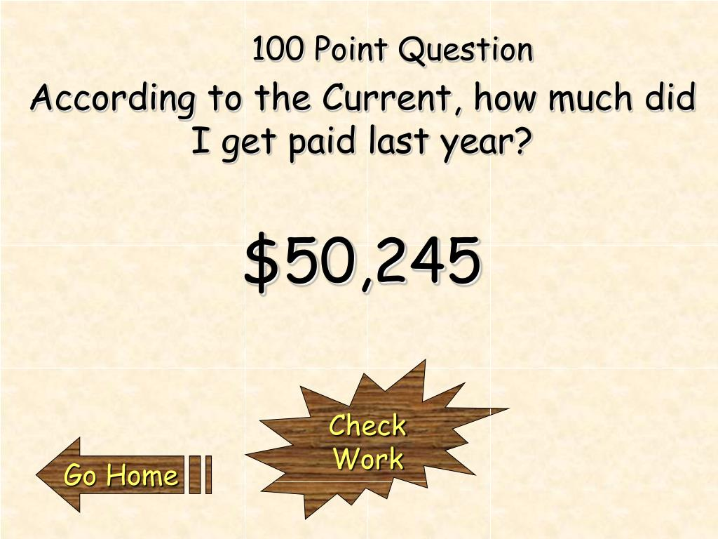 100 Point Question