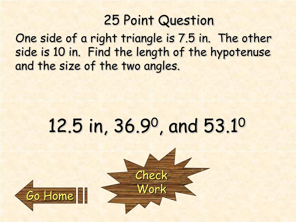 25 Point Question