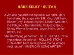 mark selby guitar
