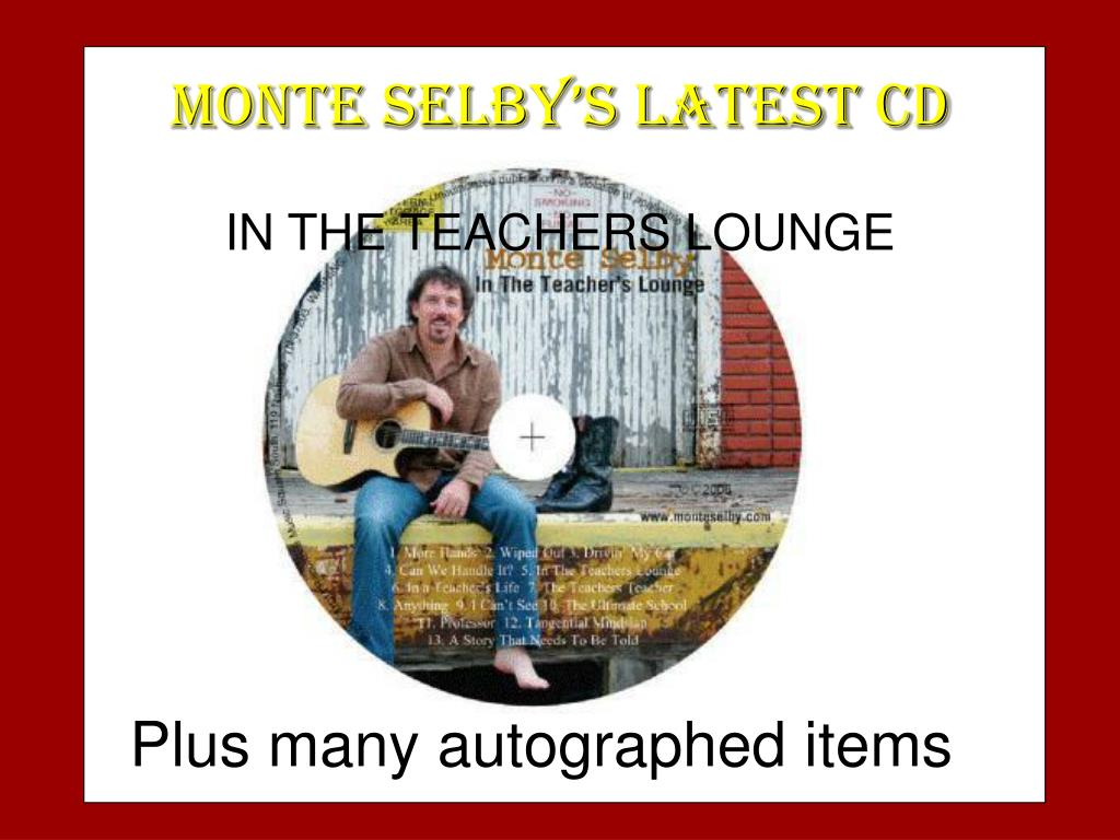 MONTE SELBY'S LATEST CD