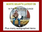 monte selby s latest cd