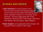 russian and french