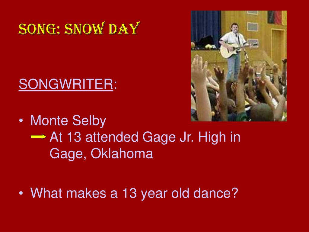 SONG: SNOW DAY