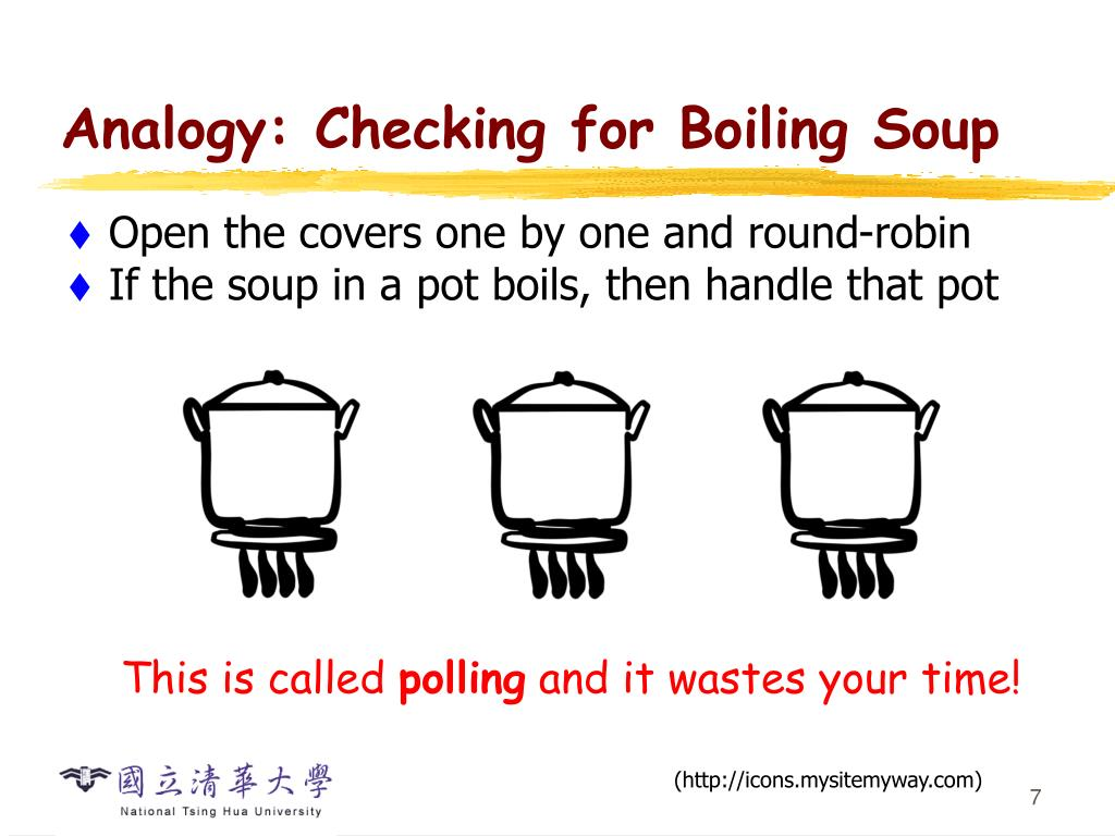 Analogy: Checking for Boiling Soup