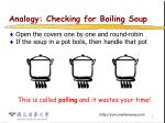 analogy checking for boiling soup