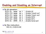 enabling and disabling an interrupt