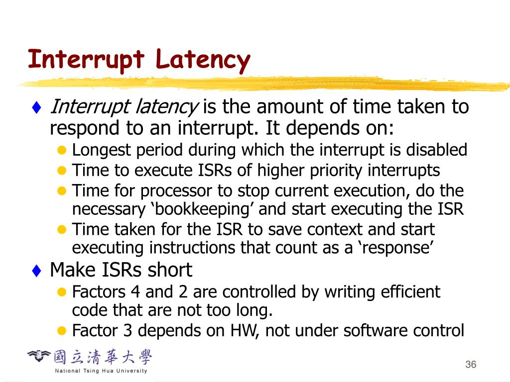 Interrupt Latency