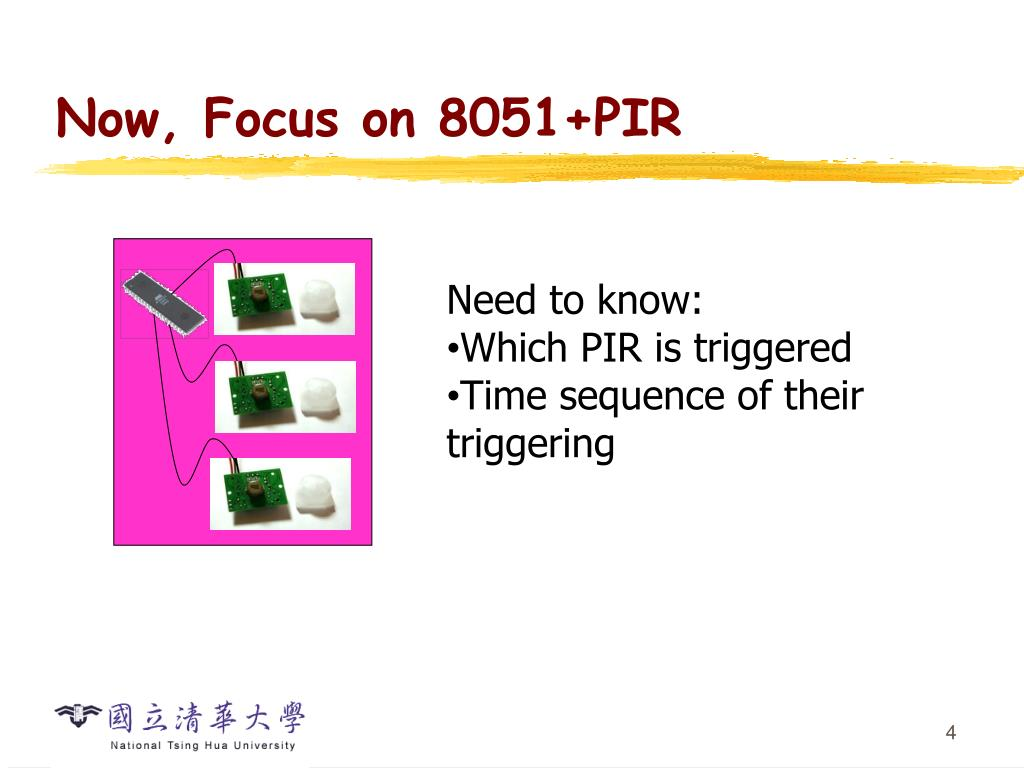 Now, Focus on 8051+PIR