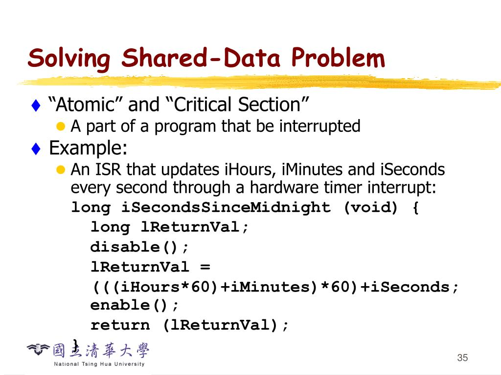 Solving Shared-Data Problem