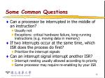 some common questions17