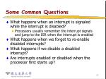 some common questions18